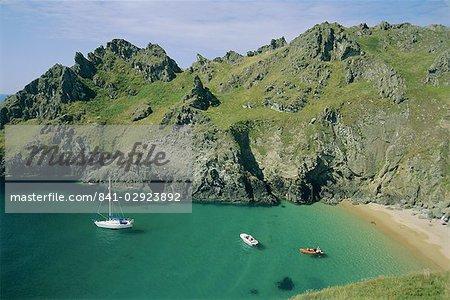 The south coast, near Prawle Point, Devon, England, United Kingdom, Europe