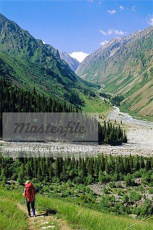 Tien Shan montagnes, Ala Archa Canyon (Kirghizistan), l'Asie centrale