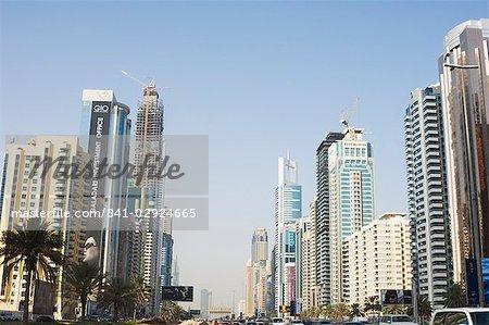 Sheikh Zayed Road, Dubai, Émirats arabes, Moyen Orient