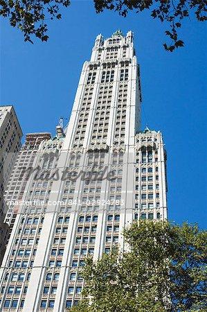 Le Woolworth Building, Manhattan, New York City, New York, États-Unis d'Amérique, North America