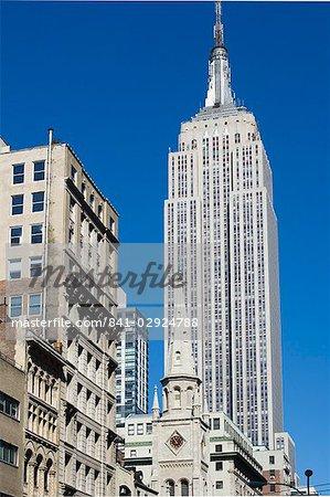 Le Empire State Building, Manhattan, New York City, New York, États-Unis d'Amérique, North America