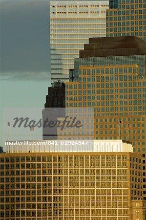 Monde financier Center bâtiments, Manhattan, New York City, New York, États-Unis d'Amérique, d'Amérique du Nord