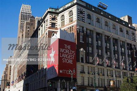 Amérique du Nord de Macy magasin, Manhattan, New York City, New York, États-Unis d'Amérique,
