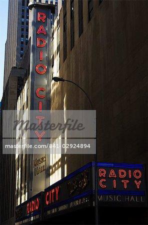 Radio City Music Hall, Manhattan, New York City, New York, États-Unis d'Amérique, l'Amérique du Nord