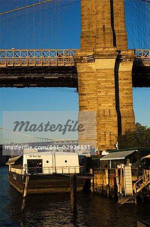 The River Cafe under Brooklyn Bridge, Brooklyn, New York City, New York, United States of America, North America
