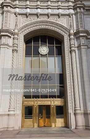 Entrée élégante le Wrigley Building, North Michigan Avenue, Chicago, Illinois, États-Unis d'Amérique, l'Amérique du Nord
