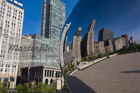 Nuage de sculpture de la porte de Anish Kapoor, Millennium Park, Chicago, Illinois, États-Unis d'Amérique, l'Amérique du Nord