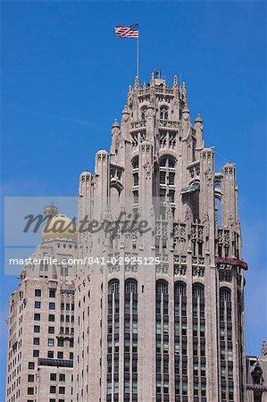 Tribune Tower, gothique, North Michigan Avenue, du Magnificent Mile, Chicago, Illinois, États-Unis d'Amérique, Amérique du Nord