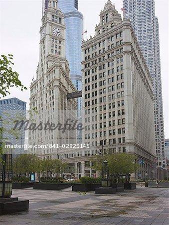 Le Wrigley Building, North Michigan Avenue, du Magnificent Mile, Chicago, Illinois, États-Unis d'Amérique, Amérique du Nord