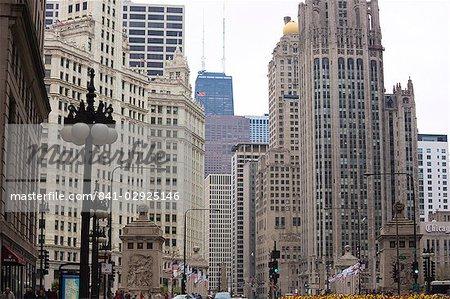 North Michigan Avenue, du Magnificent Mile, Chicago, Illinois, États-Unis d'Amérique, l'Amérique du Nord
