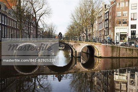 Canal bridge, Amsterdam, Pays-Bas, Europe