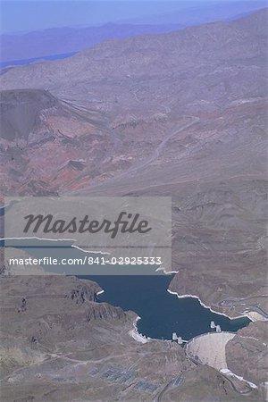 Vue aérienne du barrage Hoover et lac Mead, Nevada, États-Unis d'Amérique, Amérique du Nord