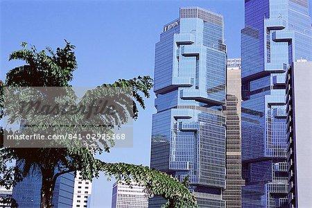 Les tours Lippo, Central, Hong Kong Island, Hong Kong, Chine, Asie