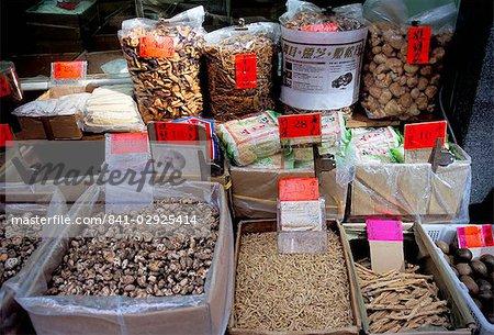 Séché boutique de fruits de mer, Des Voeux Road, Hong Kong Island, Hong Kong, Chine, Asie