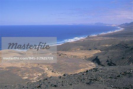 Atlantikküste, Cofete Strand, Fuerteventura, Kanarische Inseln, Spanien, Europa