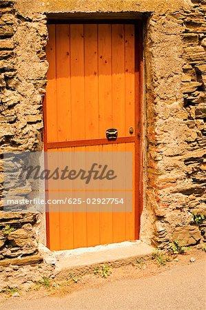 Closed door of a house, Italian Riviera, Cinque Terre National Park, Vernazza, La Spezia, Liguria, Italy