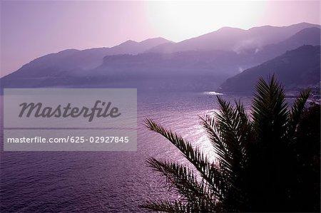 Mountains at the seaside, Costiera Amalfitana, Salerno, Campania, Italy