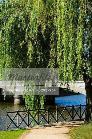 Bridge over a river, Le Mans, Sarthe, Pays-de-la-Loire, France