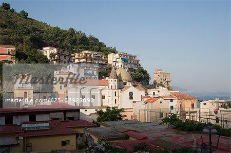 Houses in a town, Vietri sul Mare, Costiera Amalfitana, Salerno, Campania, Italy
