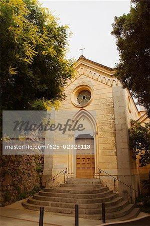 Façade d'une église, Positano, Salerno, Campanie, Italie