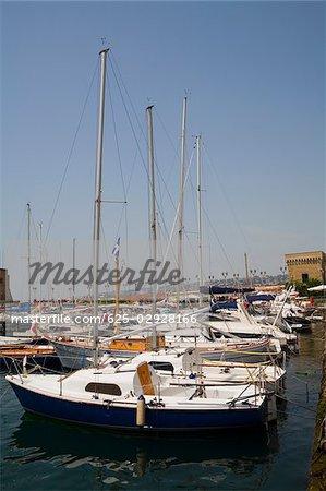 Sailboats docked at a harbor, Borgo Marinaro, Bay of Naples, Naples, Naples Province, Campania, Italy