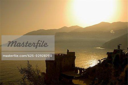 Mountains at the seaside, Cetara, Costiera Amalfitana, Salerno, Campania, Italy