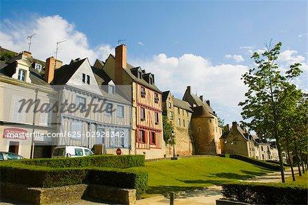 Medieval houses in a city, Le Mans, Sarthe, Pays-de-la-Loire, France