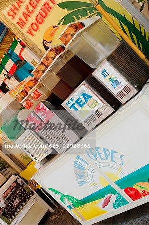 Ice tea in a restaurant, Via Padre Reginaldo Giuliani, Sorrento, Sorrentine Peninsula, Naples Province, Campania, Italy