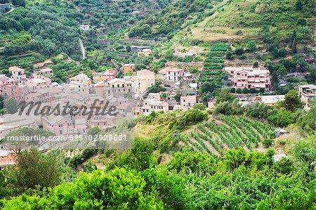 Buildings in a town, Ligurian Sea, Italian Riviera, Monterosso al Mare, Cinque Terre, La Spezia, Liguria, Italy