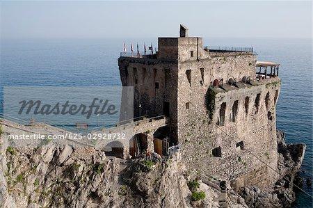 Old ruins at the seaside, Cetara, Costiera Amalfitana, Salerno, Campania, Italy