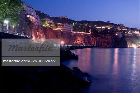Ville en bord de mer, Marina Grande, Capri, Sorrento, péninsule de Sorrente, Province de Naples, Campanie, Italie