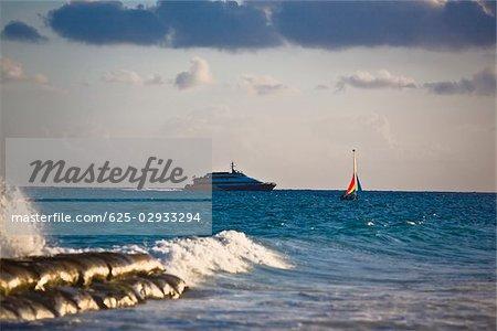 Cruise ship in the sea, Playa Del Carmen, Quintana Roo, Mexico