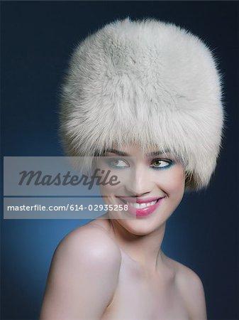 Chapeau de fourrure porter femme