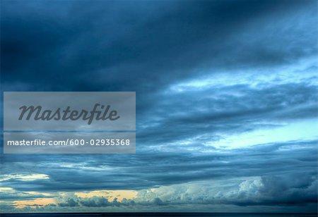 Cloudy Sky a Sunset, Turks and Caicos