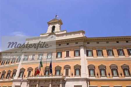 Chambre des députés, la place Montecitorio, Rome, Latium, Italie