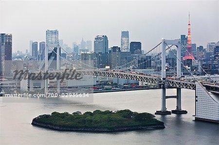 Pont de l'arc-en-ciel, Tokyo, région de Kanto, Honshu, Japon