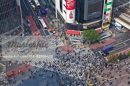 Le quartier de Shibuya, Tokyo, région de Kanto, Honshu, Japon