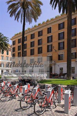 Rental Bicycles at Piazza di Spagna, Rome,Italy
