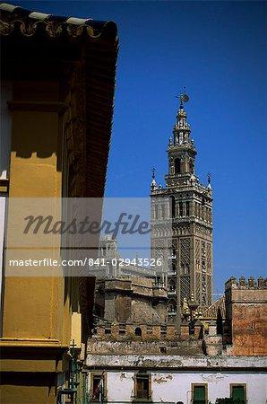 Giralda tower, Séville, Andalousie, Espagne, Europe