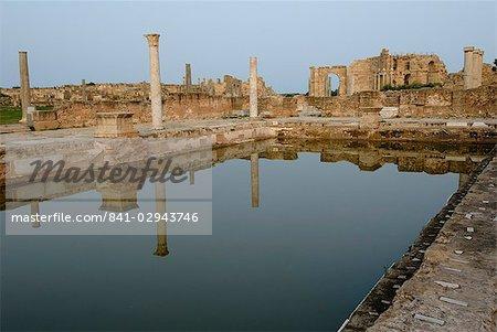 Hadrianic bath, Leptis Magna, UNESCO World Heritage Site, Libya, North Africa, Africa