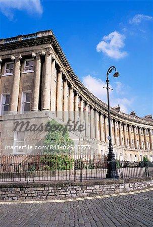 Royal Crescent, Bath, Avon, Angleterre, Royaume-Uni, Europe