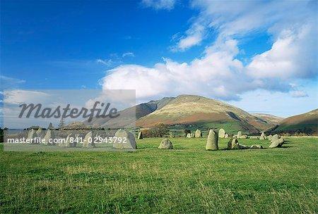 Castelrigg Stone Circle, near Keswick, Lake District National Park, Cumbria, England, United Kingdom, Europe