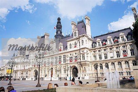 Hotel de Ville (town hall), Paris, France, Europe