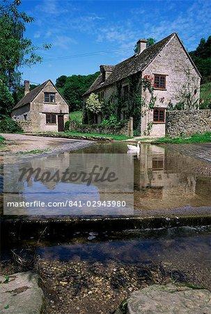 La ford, Duntisbourne Leer, Gloucestershire, les Cotswolds, Angleterre, Royaume-Uni, Europe