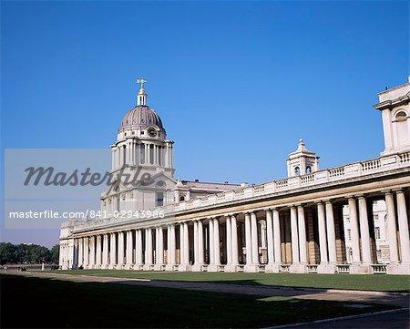 Royal Naval College, Site du patrimoine mondial de l'UNESCO, Greenwich, Londres, Royaume-Uni, Europe