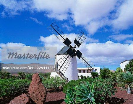 Traditional windmill near Antigua, Fuerteventura, Canary Islands, Spain, Europe