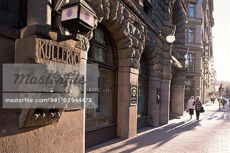 Art déco caractéristiques et des portes, Helsinki, Finlande, Scandinavie, Europe