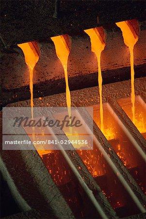 Molten copper, Chino Mines, New Mexico, United States of America, North America