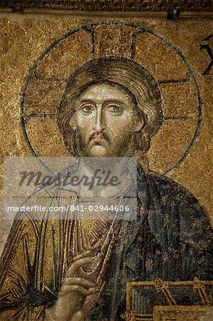 Mosaïque du Christ, Santa Sofia, Istanbul, Turquie, Europe et Eurasie