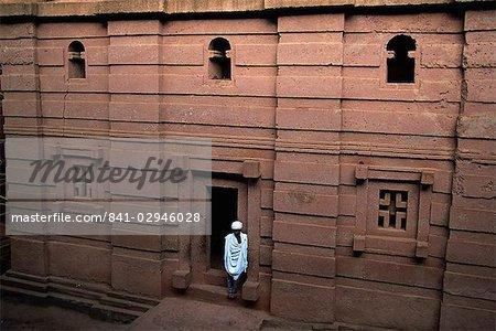 Emmanuel church à Lalibela, patrimoine mondial de l'UNESCO, Éthiopie, Afrique creusées dans le rocher